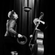"""""""Schöner Denken mit WoWo"""" mit Marcus Jeroch und Wolfgang Fernow in der Waggonhalle in Marburg (Fotograf: www.frankhoefliger.de)"""